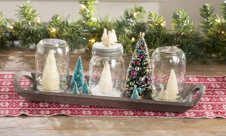 Mason Jar Dry Snow Globes