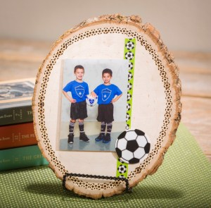 Wood Log wood burning sports display