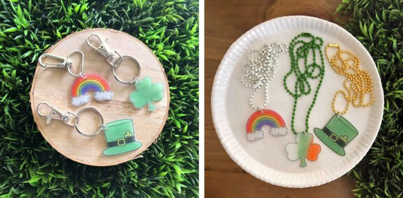 Fun Ways to use St Pats Day Shrinky Dinks