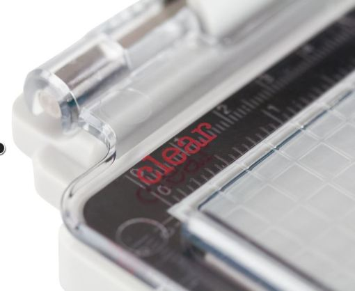 Tim Holtz Stamp Platform works for rubber and clear stamps