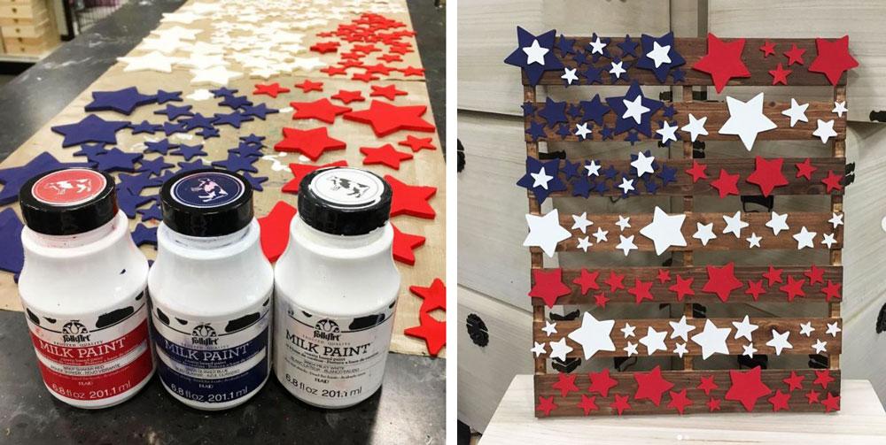 Americana Patriotic Decor Sign you can make at Craft Warehouse