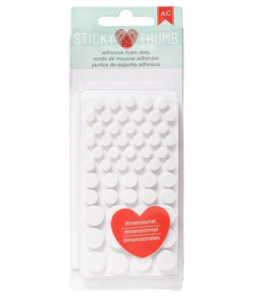 Sticky Thumb Foam Dots