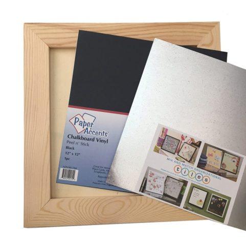 Supplies for Fidget Spinner Chalkboard Board