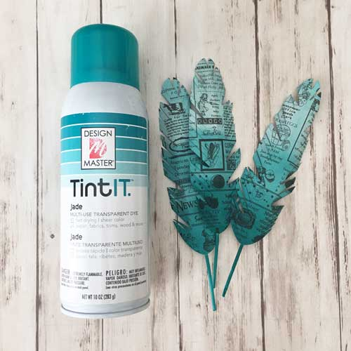 Tint it spray with paper feathers at Craft Warehouse