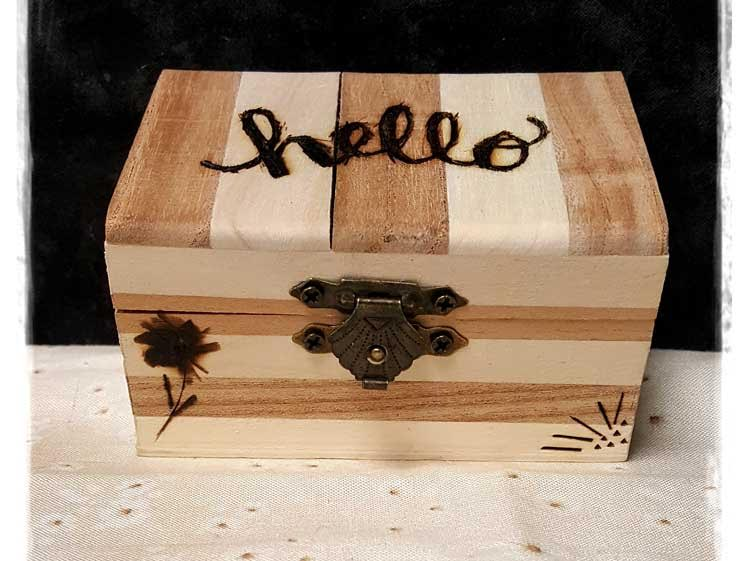 Wood Burned Trinket Box @ Meridian Location | Meridian | Idaho | United States
