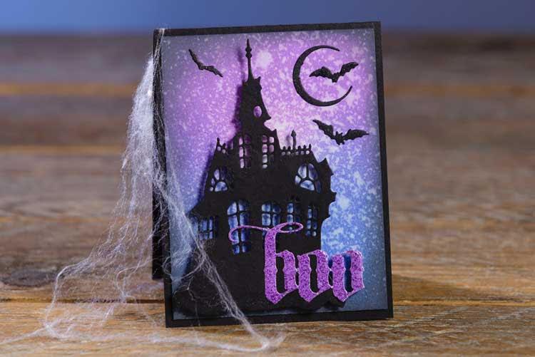 BOO Haunted House Card