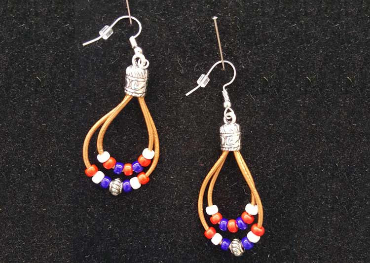 Happy Hour - Patriotic Leather Earrings @ Vancouver Location | Vancouver | Washington | United States