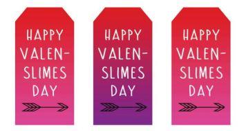 Free Printable Slime Valentine Tags