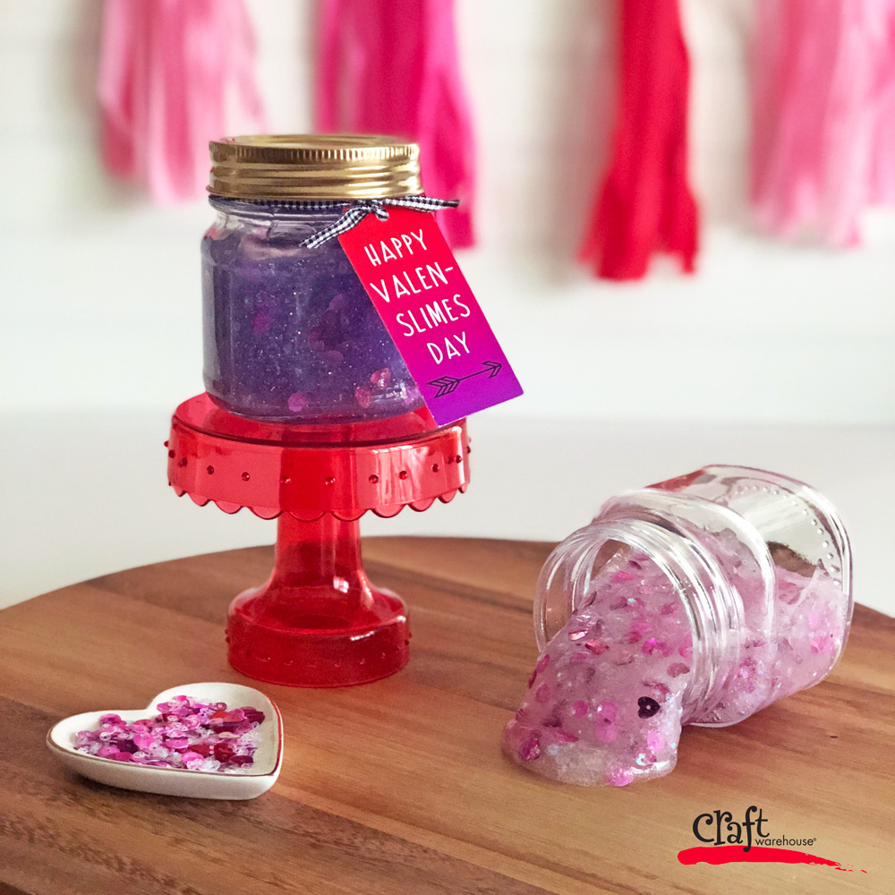 Make Slime for Valentine's Day with Free Printable Tags