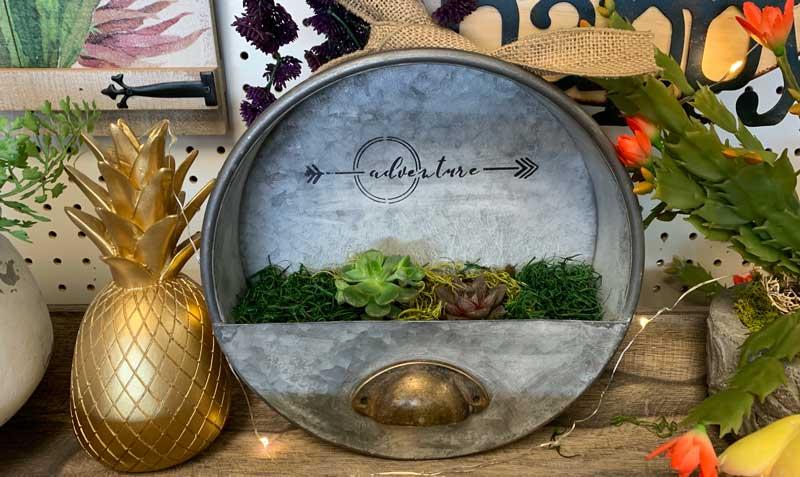 Succulent Tin Wall Garden @ Kennewick Location | Beaverton | Oregon | United States