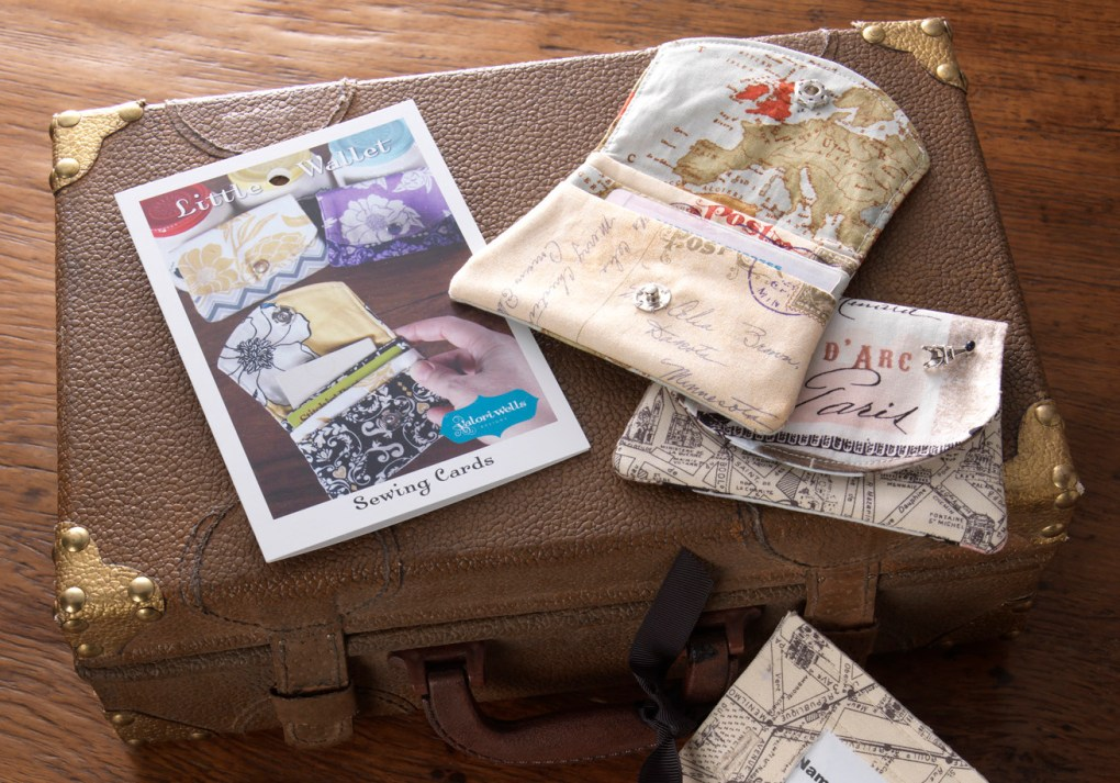 Little Wallet fabric Sewing cards