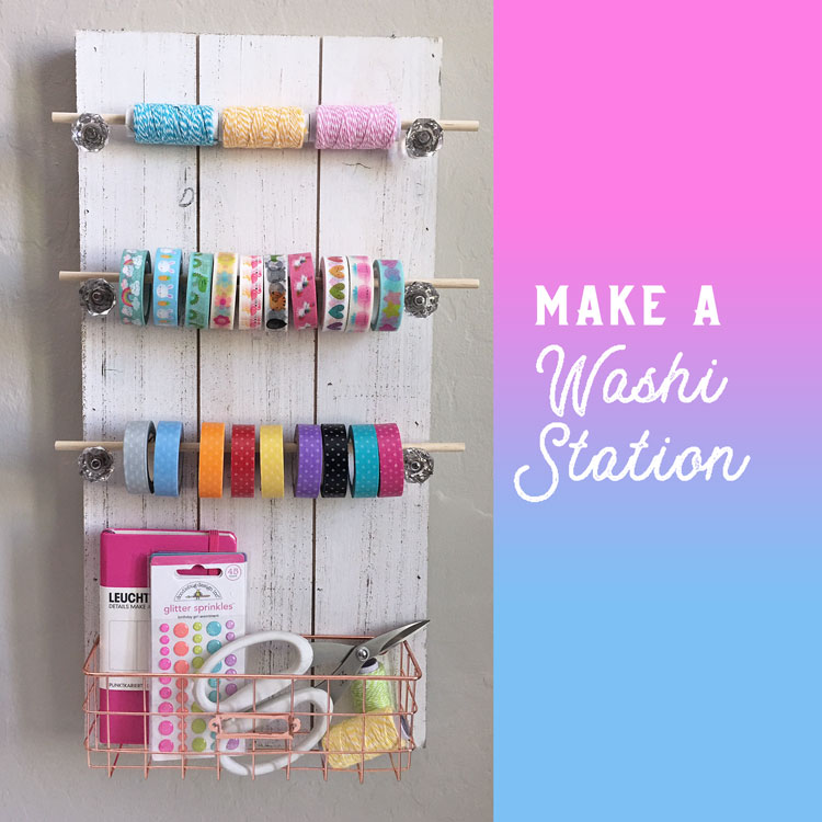 Make a Washi Station. Easy how-to from Craft Warehouse