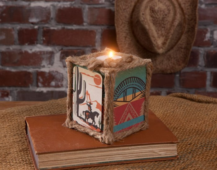 Western Style Candle Holder Craft