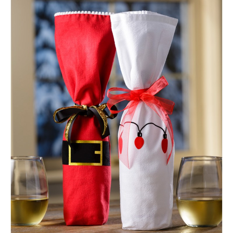 Create Easy Wine Bags with Iron-Ons