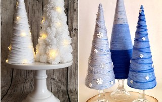 How to Make Winter Yarn Trees