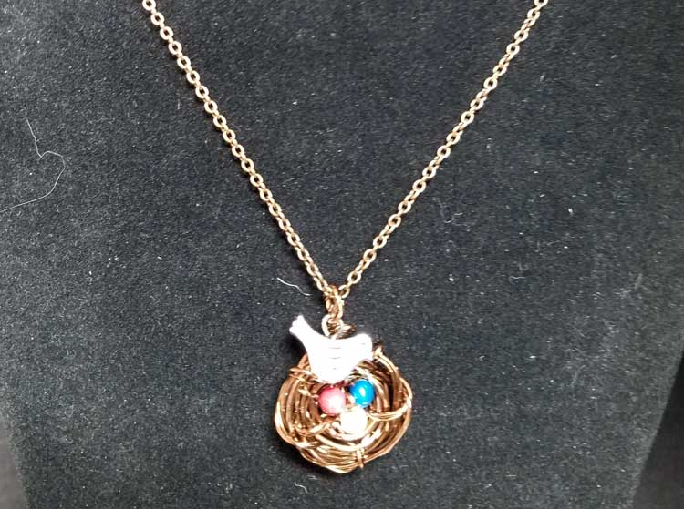 Wire Wrapped Bird Nest Necklace @ Kennewick Location   Kennewick   Washington   United States