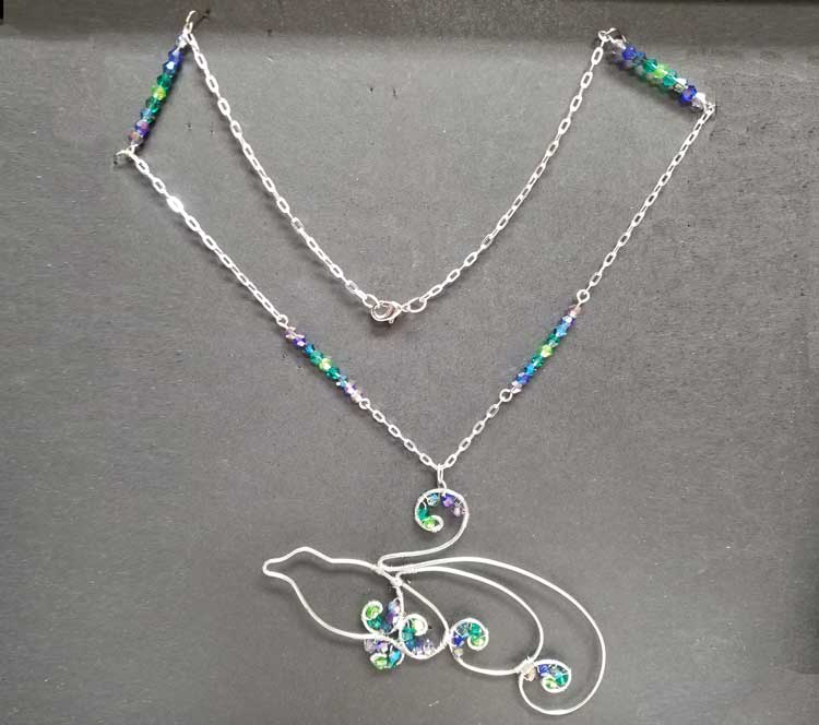 Wire Wrap Class - Peacock Necklace @ Kennewick Location | Kennewick | Washington | United States