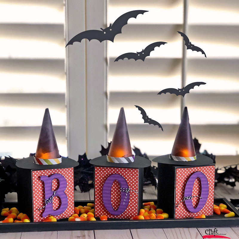 Make this Halloween Craft - Witch Hat Votives