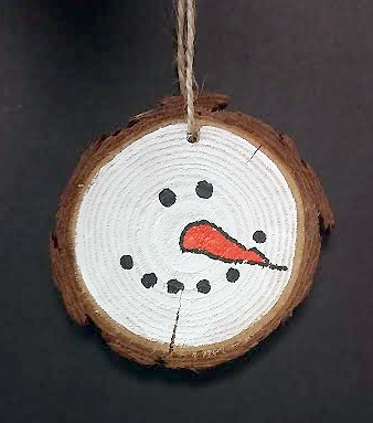Wood Snowman Ornament