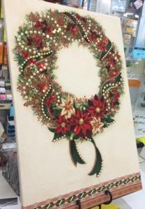 wreath christmas canvas
