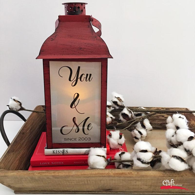 Make this Custom Valentines Lantern