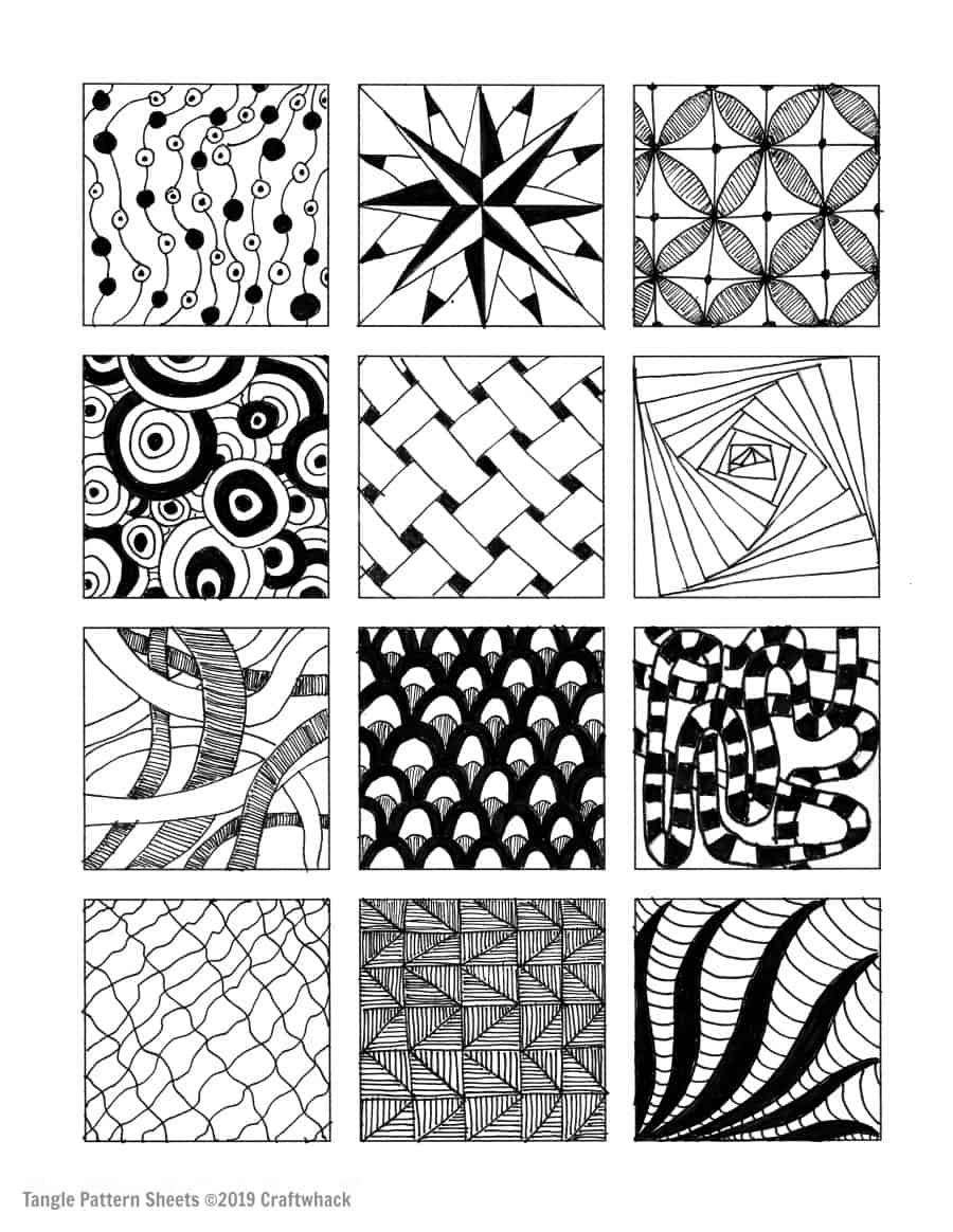 Inspired By Zentangle Patterns And Starter Pages Of 2020 Craftwhack