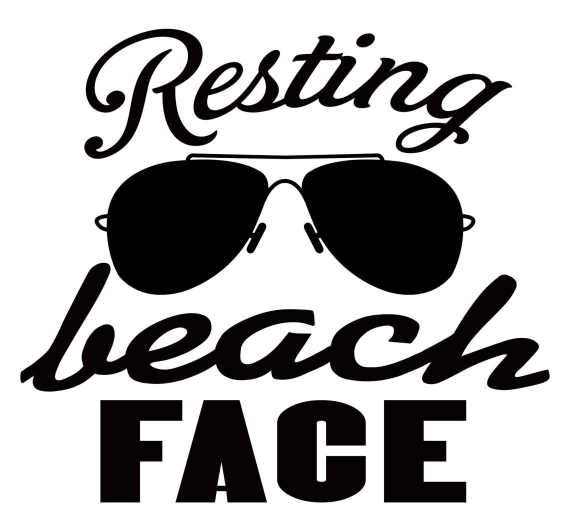 Download Free Resting Beach Face SVG Cutting File - The Crafty ...