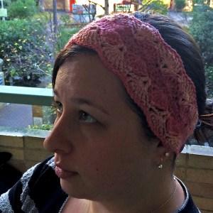 Shell headband ear warmer