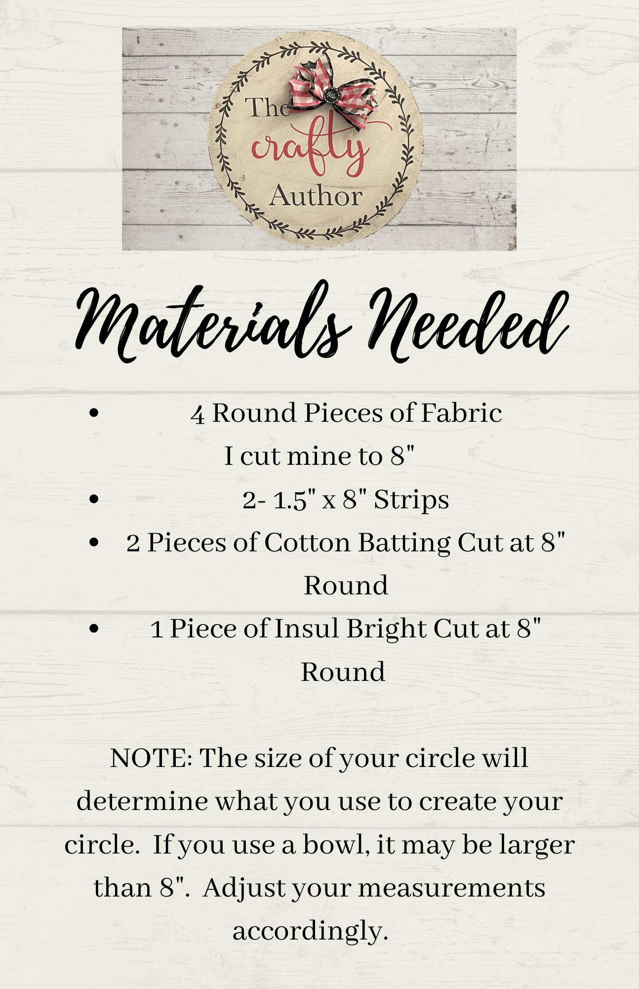 Pot Holder Materials Needed