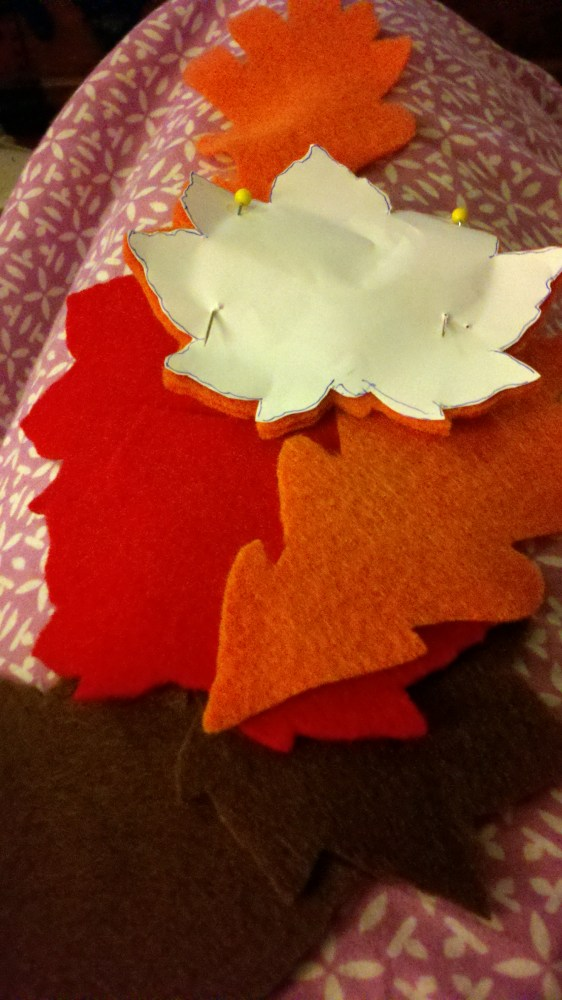 Fall Felt Leaves (3/5)