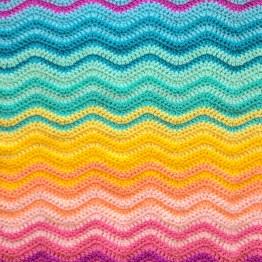 Interlocking Ripple Blanket pattern by Attic24