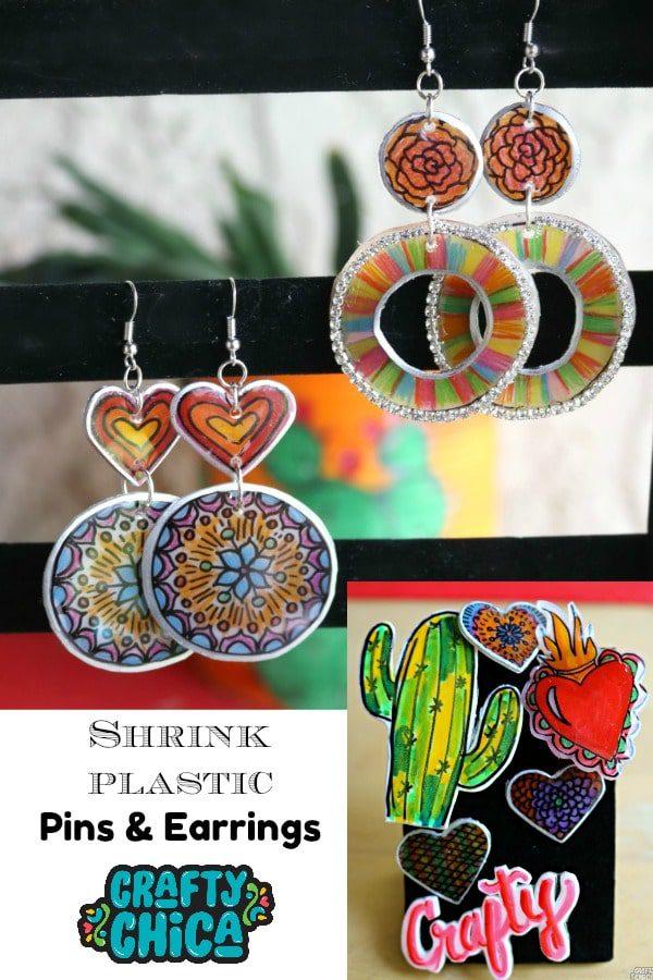 Shrink Plastic Pins & Jewelry