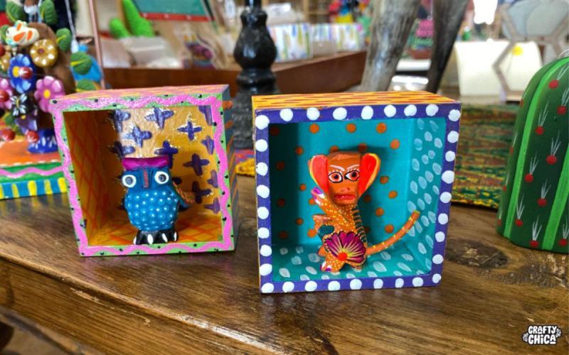 DIY Alebrije shadow boxes #craftychica #alebrijes #alebrijesmexicanos