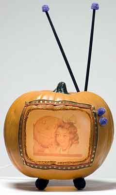 pumpkin tv set