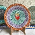 Diy Ceramics Stamped Clay Plates The Crafty Chica Crafts Latinx Art Creative Motivation