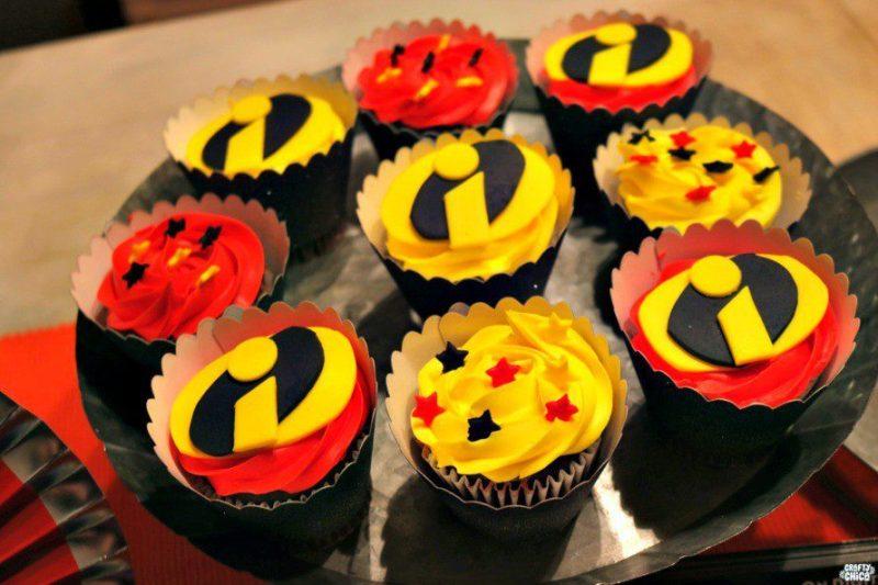 Incredibles 2 cupcakes