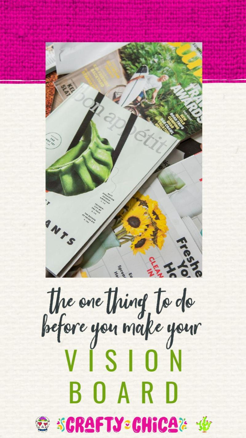 Vision board tip #craftychica #visionboards