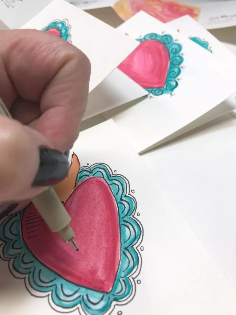 DIY Watercolor cards #craftychica #diywatercolor #watercolorpainting