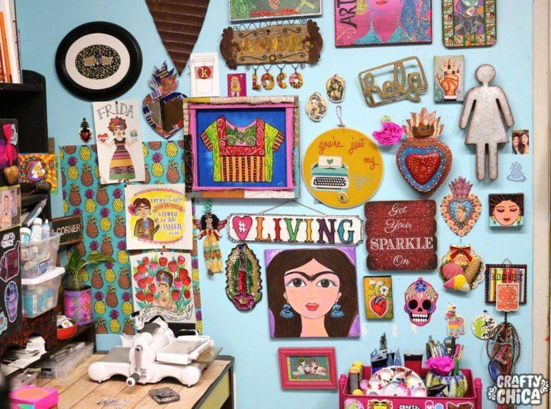 Crafty Chica's craft room tour.
