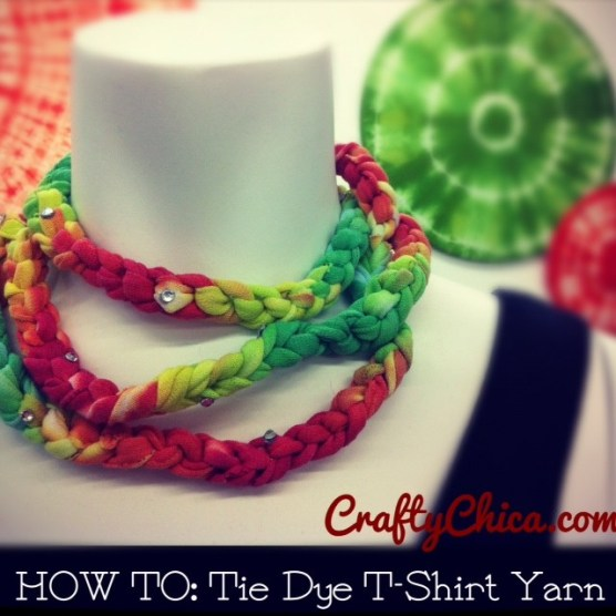 How to make t-shirt yarn, Crafty Chica