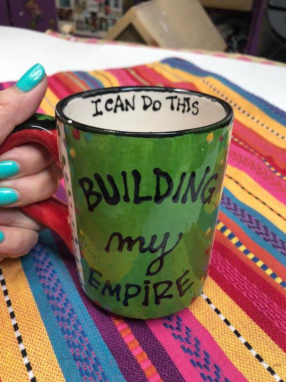Building My Empire Mug #craftychica #affirmation #solopreneur