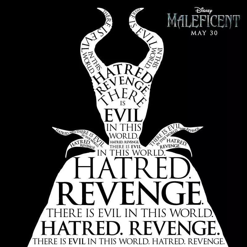 Maleficent_There_Is_Evil_In_This_World_Hatred_Revenge_Poster