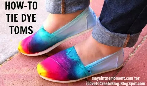 How to Tie-Dye Toms shoes!