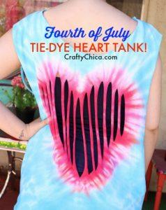 Tie-dye heart shirt by CraftyChica.com.