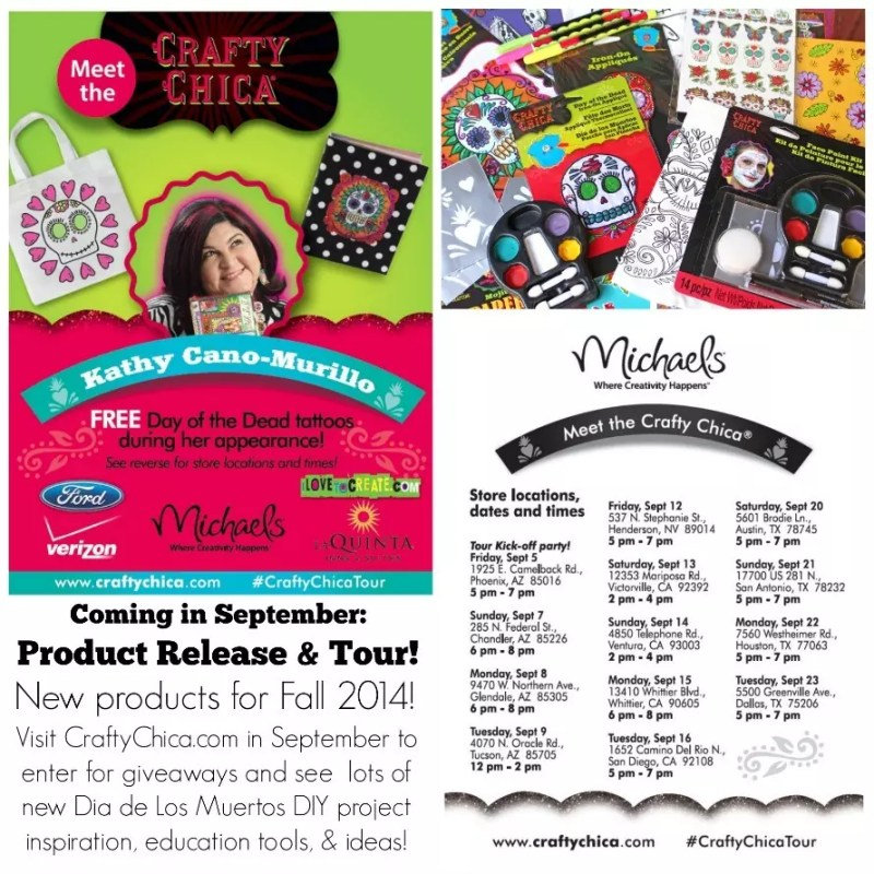 New products coming to Michaels stores this September and a BIGGER appearance tour!