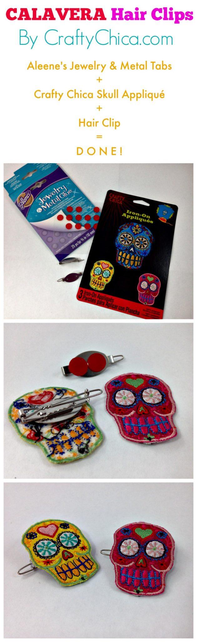 By CraftyChica.com using Crafty Chica skull appliqués.