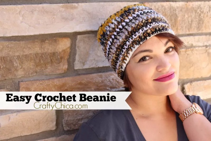 CraftyChica.com features an easy crochet beanie video tutorial!