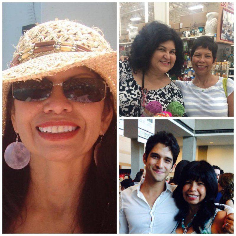 Cyndi Garcia! Top right, mew with Cyndi last month in Ventura. Bottom right: Cyndi with her son, Tyler.