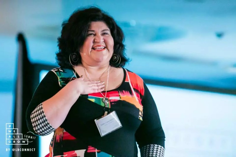 Kathy Cano-Murillo. Photo by Robson Muzel and #WeAllGrow Summit 2015.