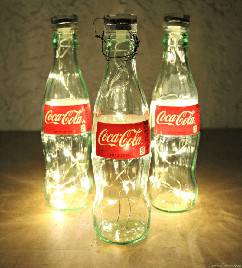 Coke bottle Luminarias by CraftyChica.com